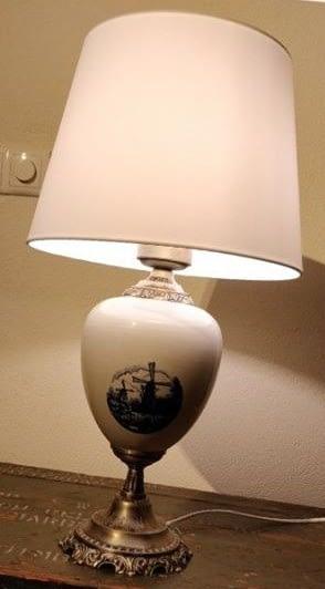 Lamp met delfts blauw in het midden