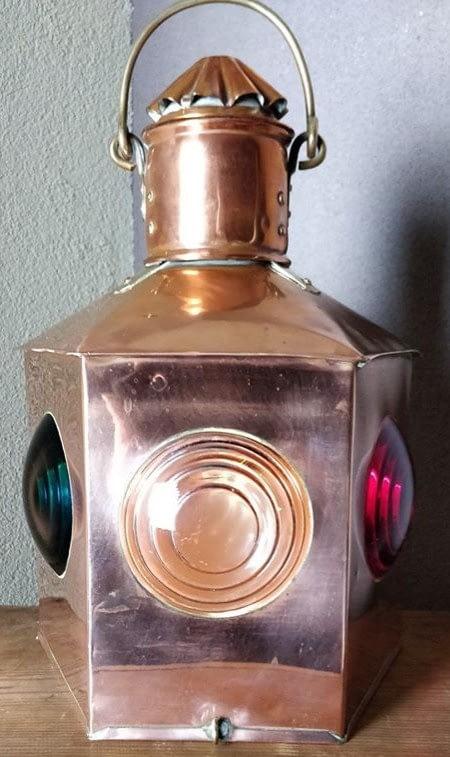 Gecombineerd toplicht met bakboord en stuurdboord met rood, wit en groen glas