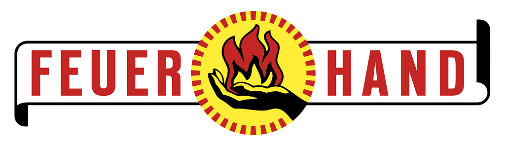 Feuerhand logo, producent stormlampen