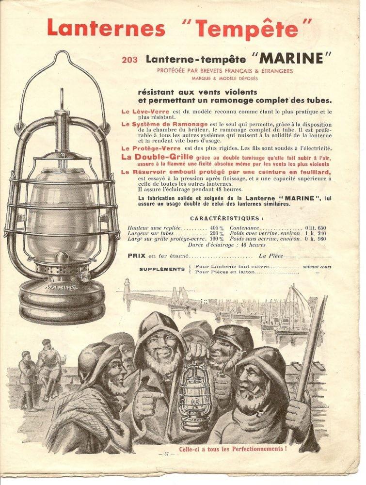 De ALG Marine met Lanternes Tampete