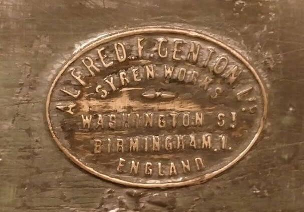 Alfred F. Genton Ltd. Wyren Works Birmingham England