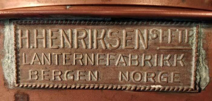 H.Henriksen Lanternefabrikk Bergen Norge
