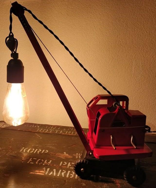 Tri-ang speelgoed hijskraan lamp