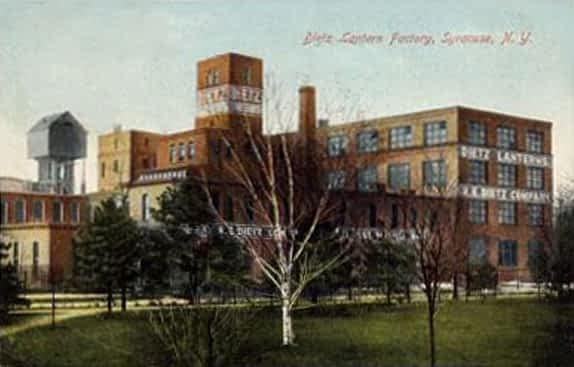 Fabriek van Dietz voor stormlampen