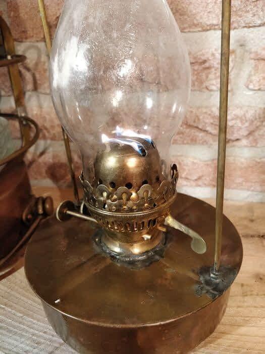 Scheepslamp met een dubbele lonthouder