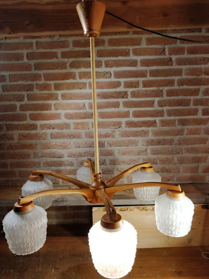 Mooie hangende kroonluchter van Temde Leuchten uit Duitsland