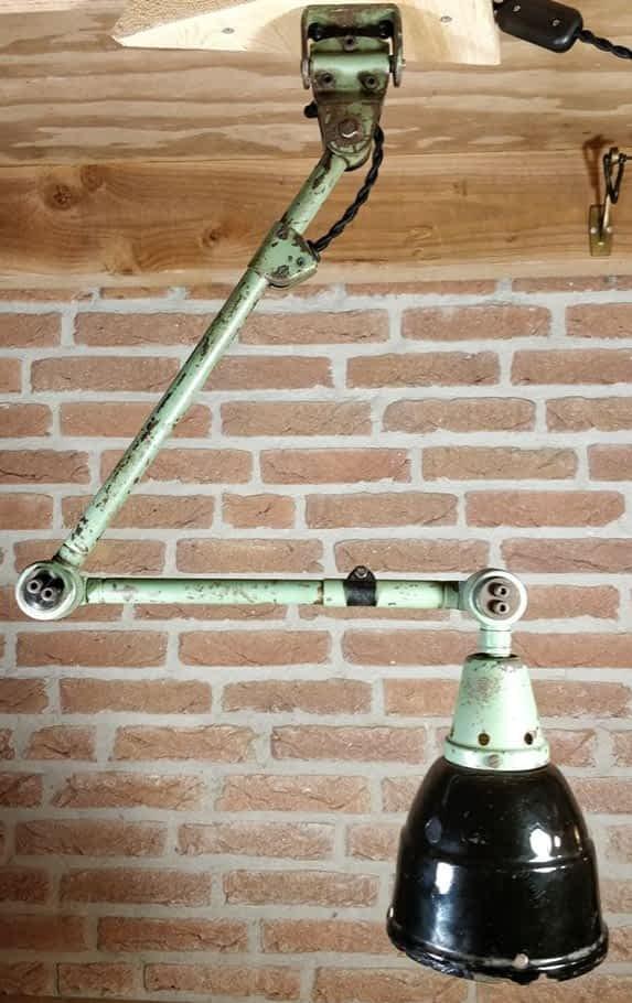 Hangende fabriekslamp van Midgard Curt Fischer