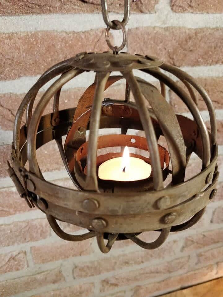 Cardanische scheepslamp met waxinelicht