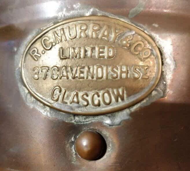 R.C. Murray&CO limited Glasgow scheepslamp logo