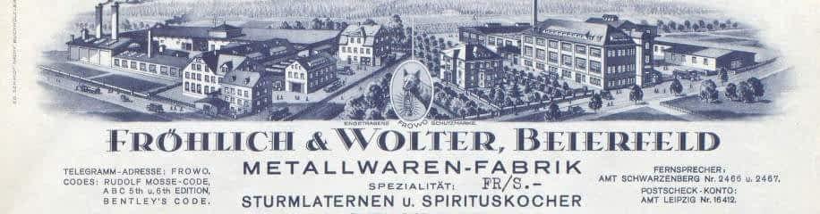 Fabriek van Frohlich & Wolter, Frowo, Beierfeld